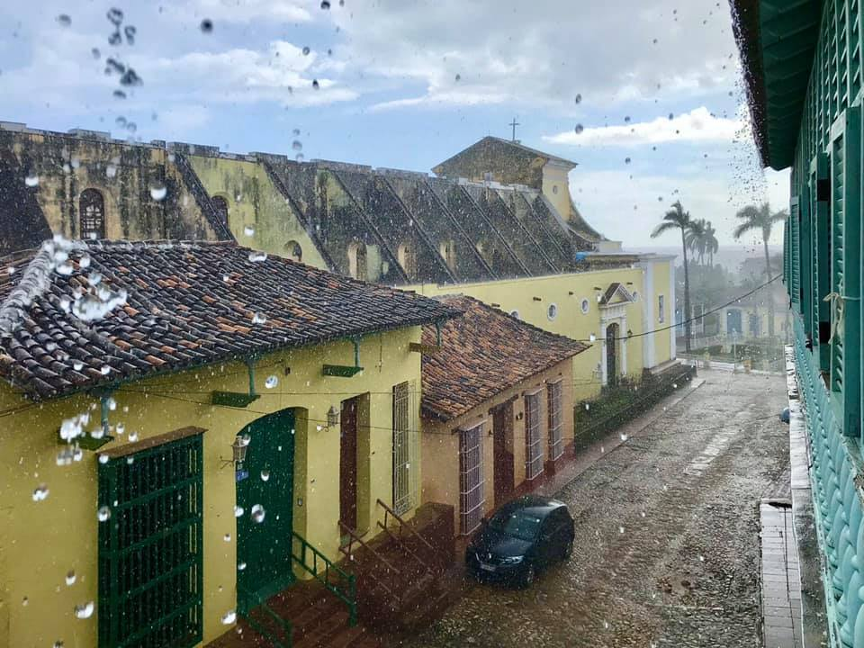 trinidad cuba in rain