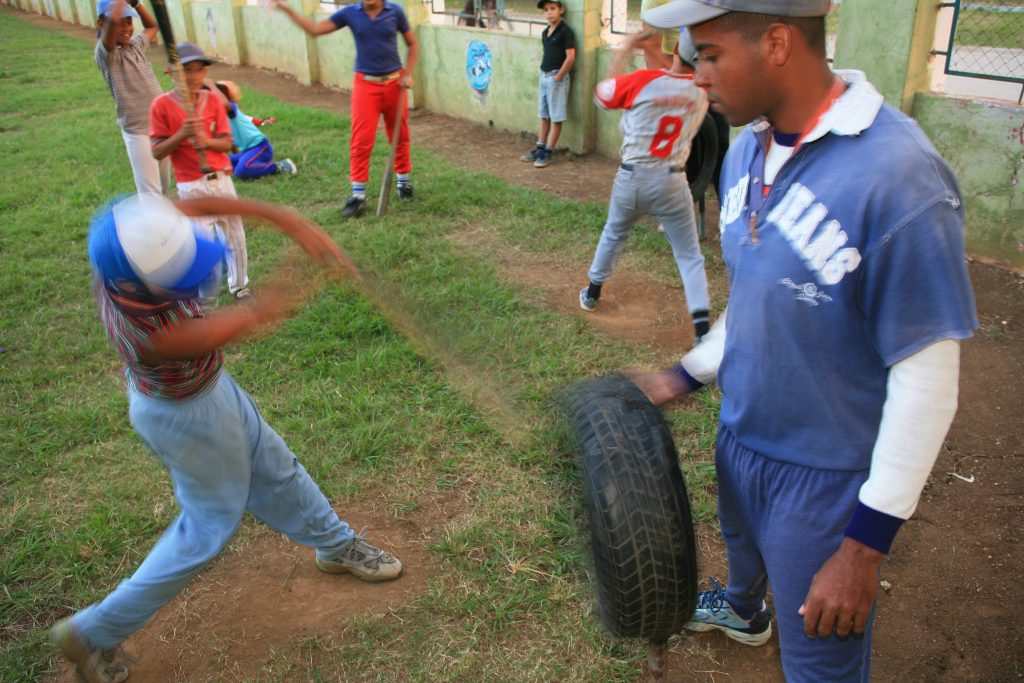 young cuban baseball players