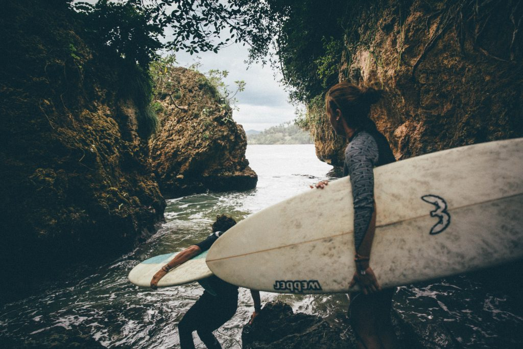 surfing in cuba with Cuban surfers
