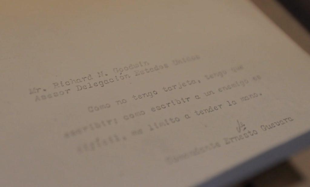 Doris Kearns Goodwin has the letter from Che Guevara to her husband Richard Goodwin.