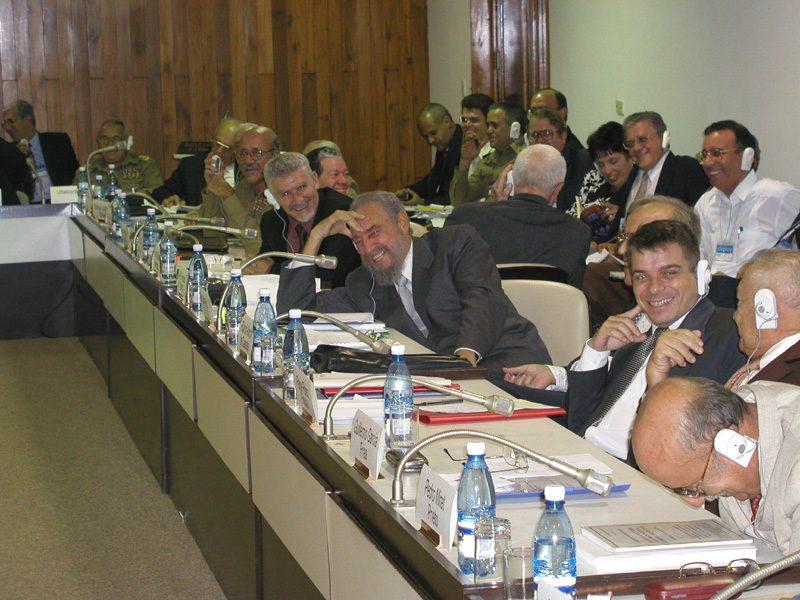 Fidel Castro and russian delegation
