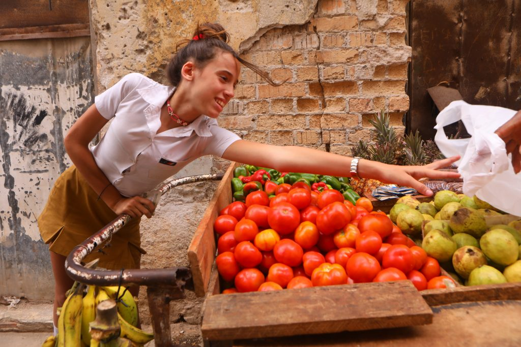 produce stand in havana cuba
