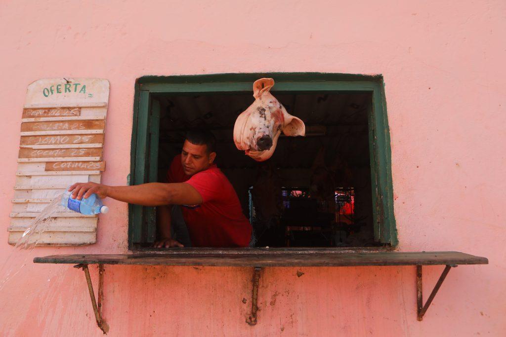 a cuban food stall in trinidad, cuba