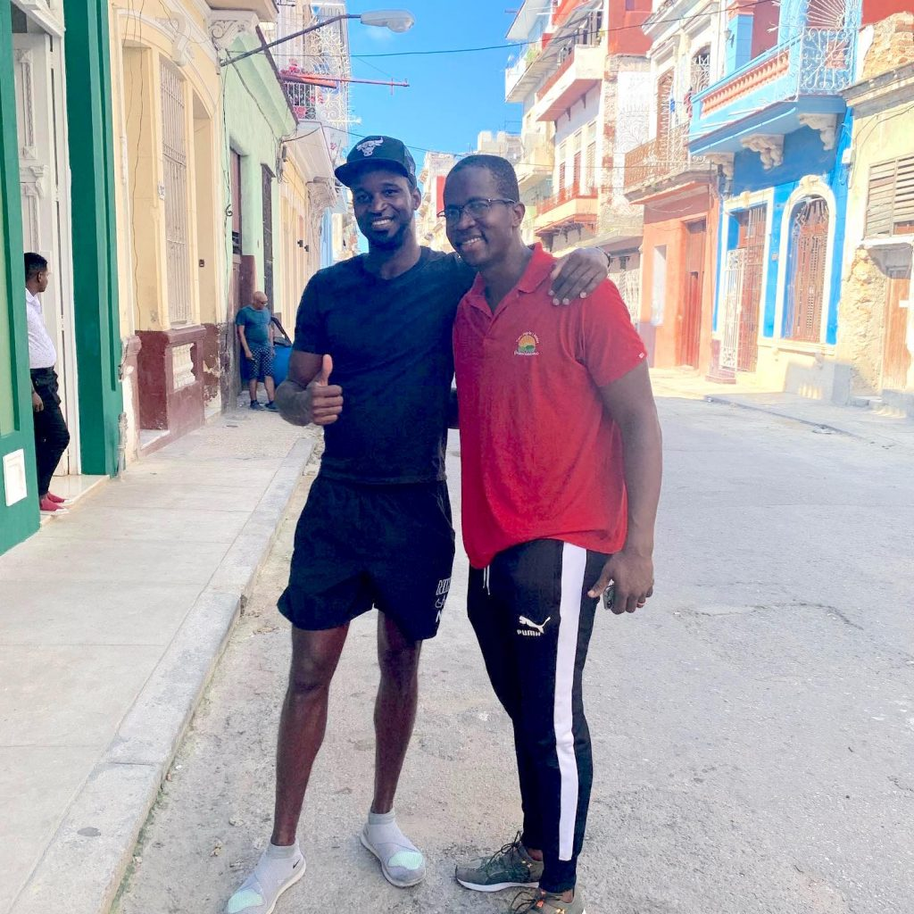Cuban Olympic athletes yeisser ramirez and dayron robles