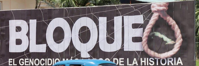 cuba sanctions bloqueo sign